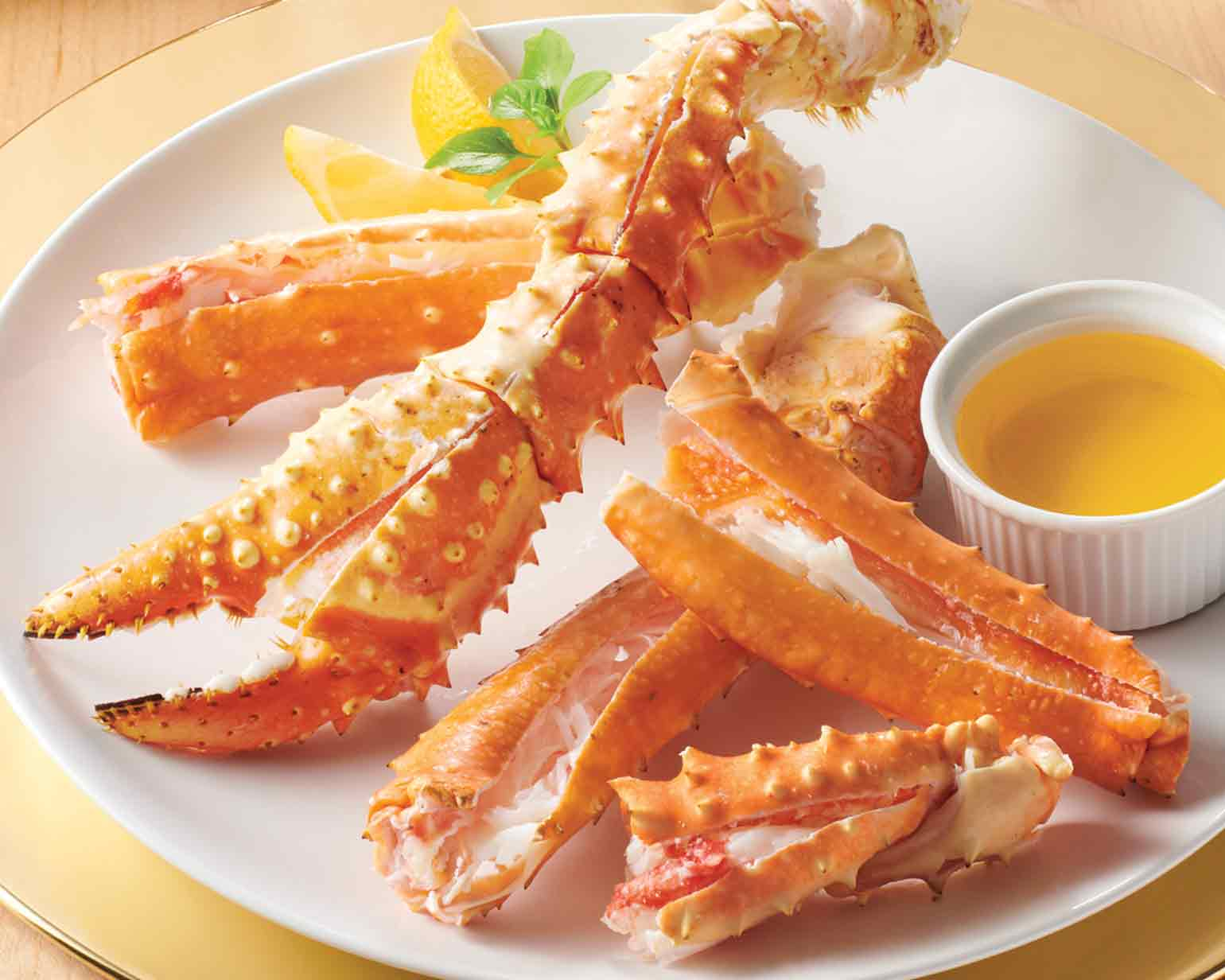 signature king crab legs and claws