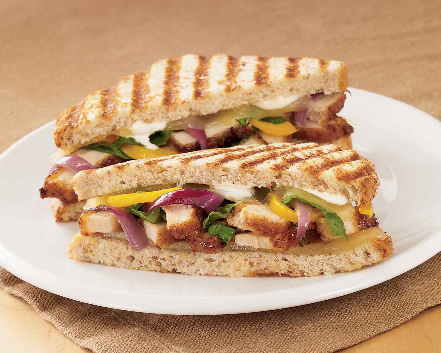 panini grilled vegetable panini chicken teriyaki chicken teriyaki