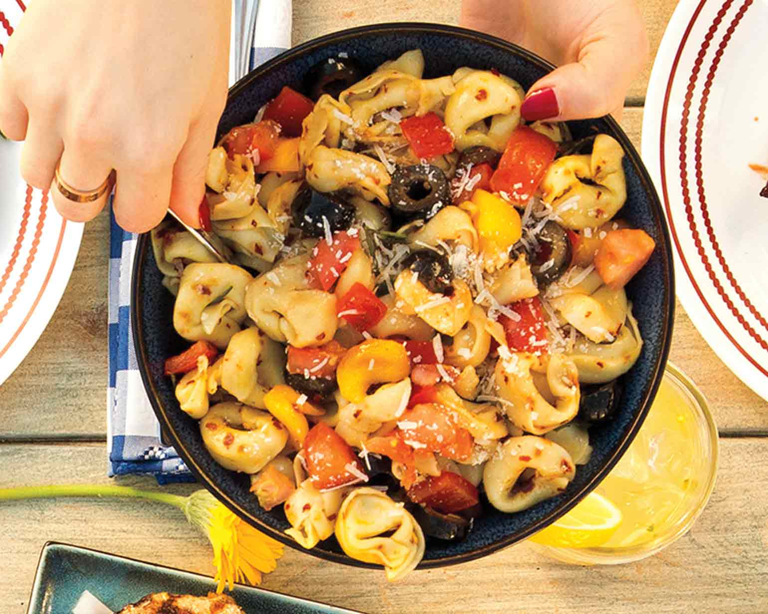 Zesty Six-Cheese Tortellini Salad - Schwan's