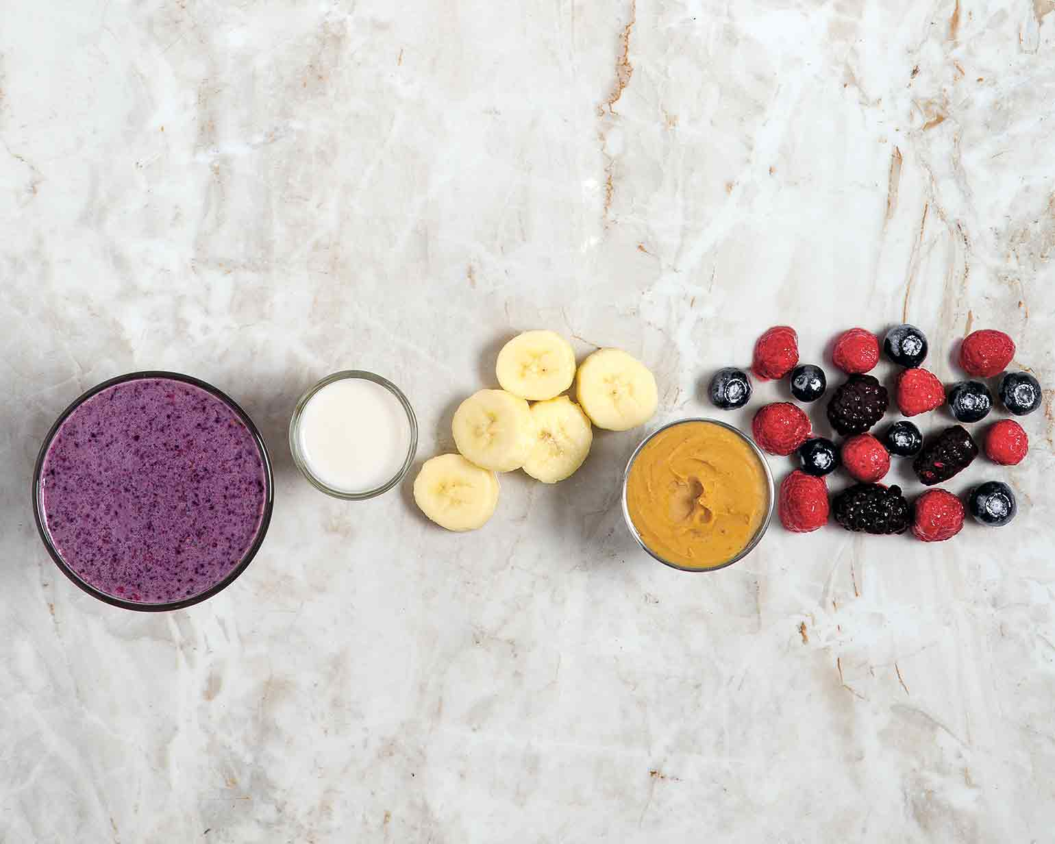 Triple berry smoothie schwan 39 s for Triple tail fish recipes