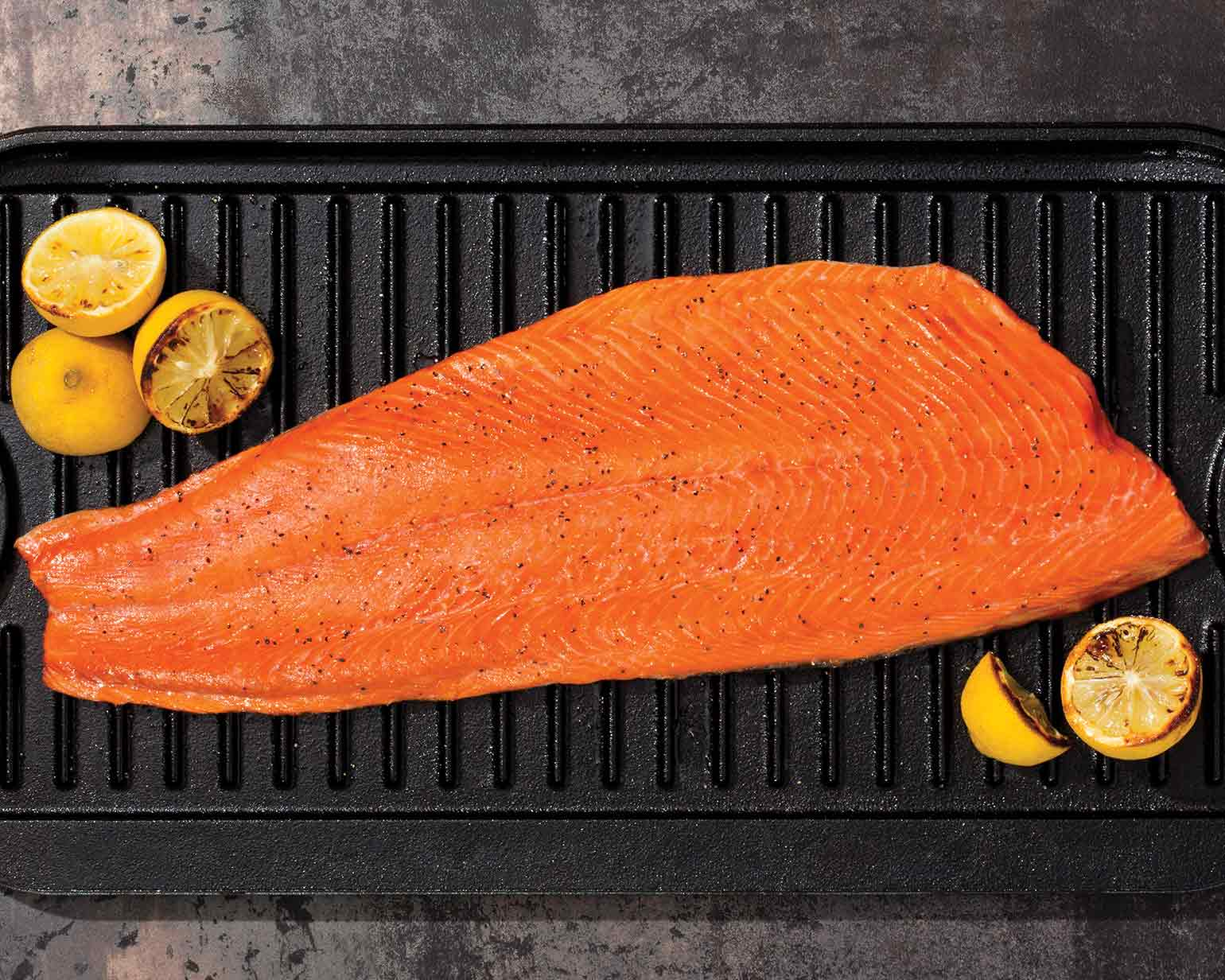 Grilled Salmon Fillet Toppings Schwan S