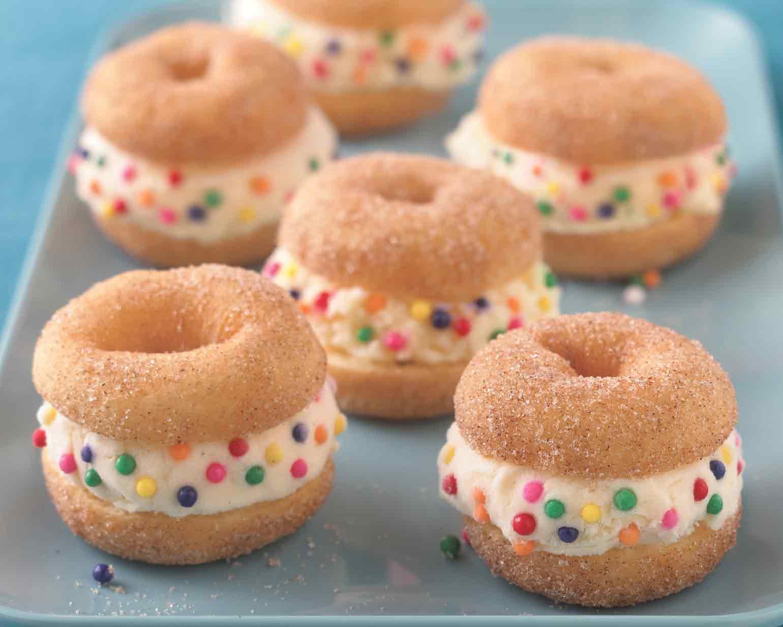 Mini donut ice cream sandwiches schwans ccuart Gallery
