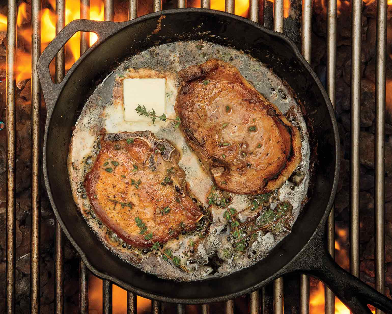 Cast Iron Skillet Grilled Thyme Pork Chop Schwan S